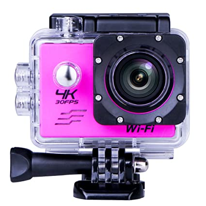 Sports Action Camera Sport Video 4K WIFI Action Cam 16 MP Underwater Camcorder HD 1080P and 900mAh Batteries Inch 170 Wide Angle Red Electronics