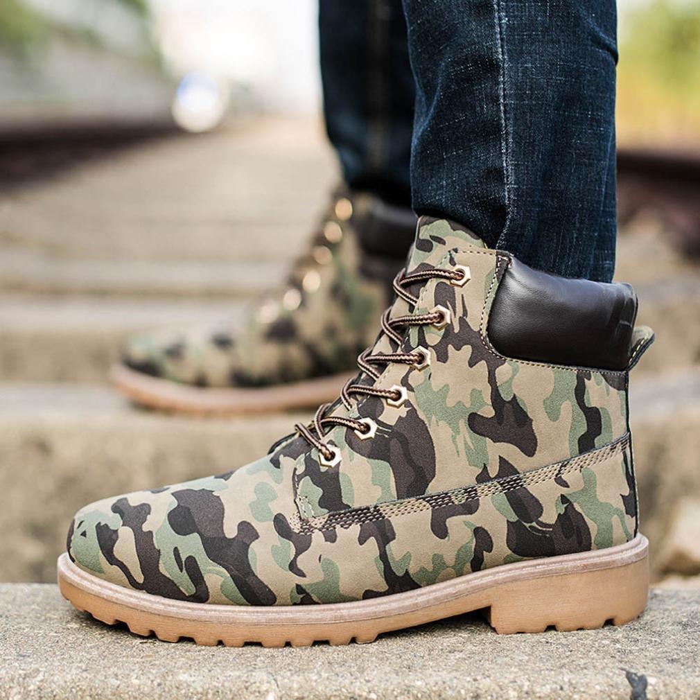 XINANTIME - Botines para hombres Forrado invierno otoño cálido Martin Boots Zapatos (46, Camuflaje): Amazon.es: Hogar