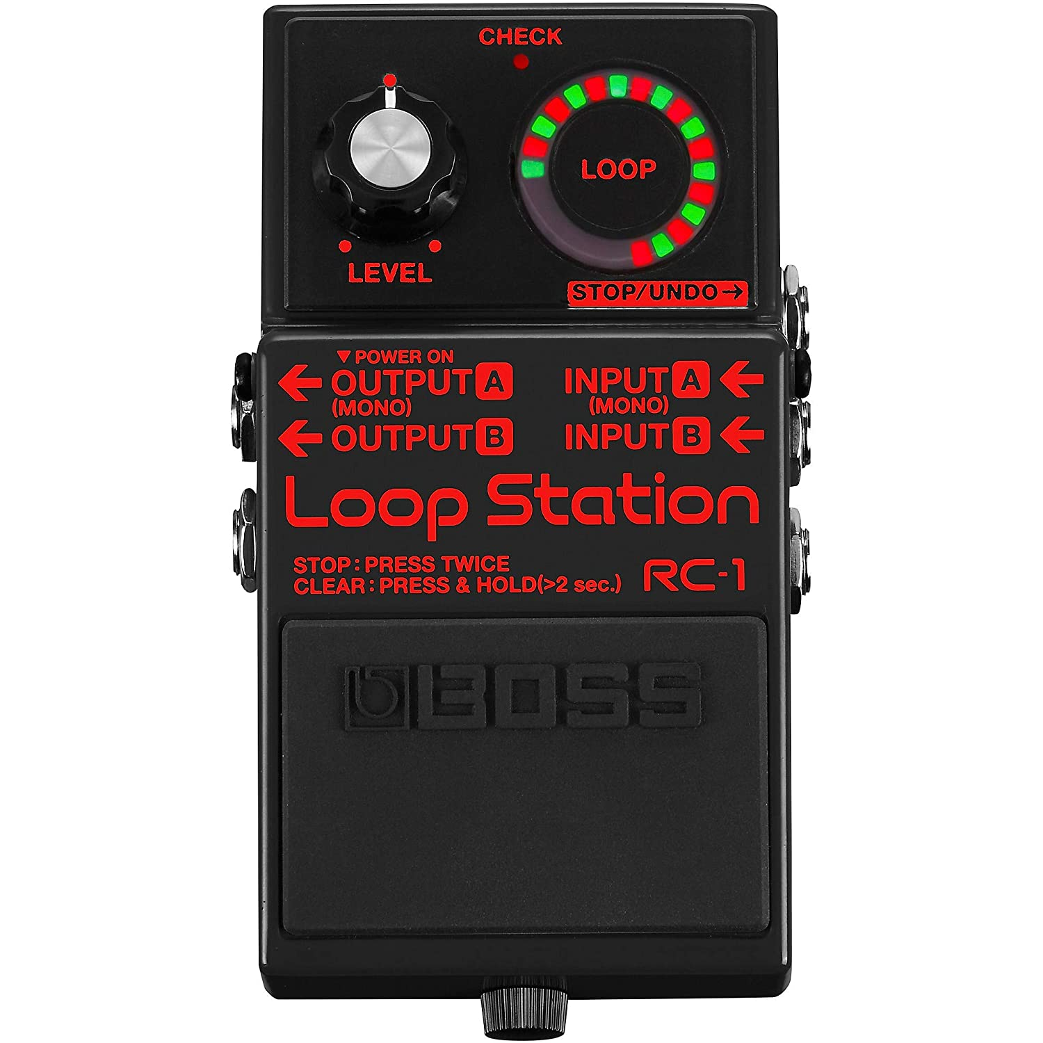 Boss RC 1 BK Loop Station Guitar Effect Pedal Limited Edition Black RC-1 Black