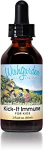 WishGarden Herbs - Kick-It Immune For Kids, Organic Herbal Immune System Supplement, Specially Formulated for Kids (2 oz Dropper)
