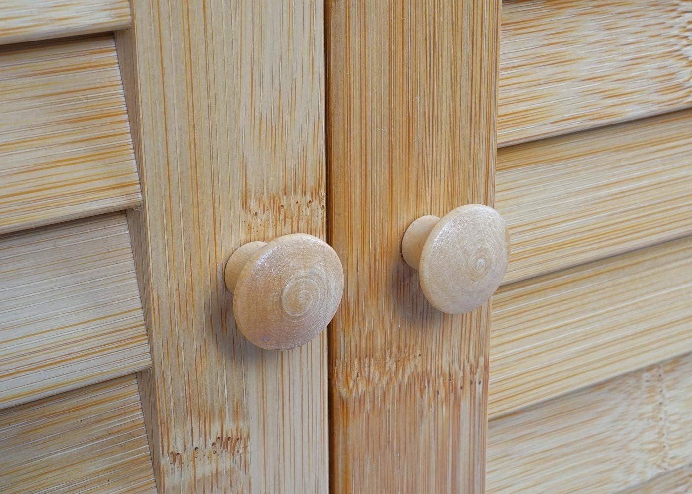 Bambus ~ 60x80x40cm Badezimmer Badschrank Mendler Waschbeckenunterschrank HWC-B18