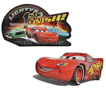 2 Tkg Set Xl 3 D Effekt Disney Cars Wand Bild