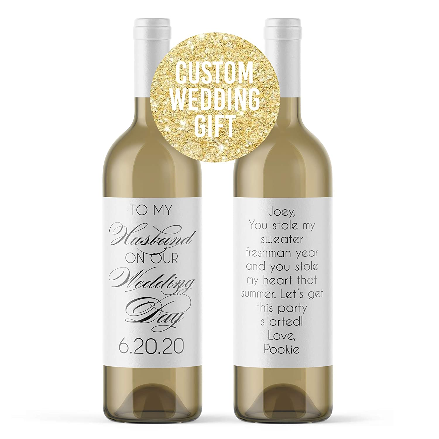 Wedding Day Card ~ On Your Wedding Day Love is When Two People Share One Dream ~ Champagne /& Wedding Gift