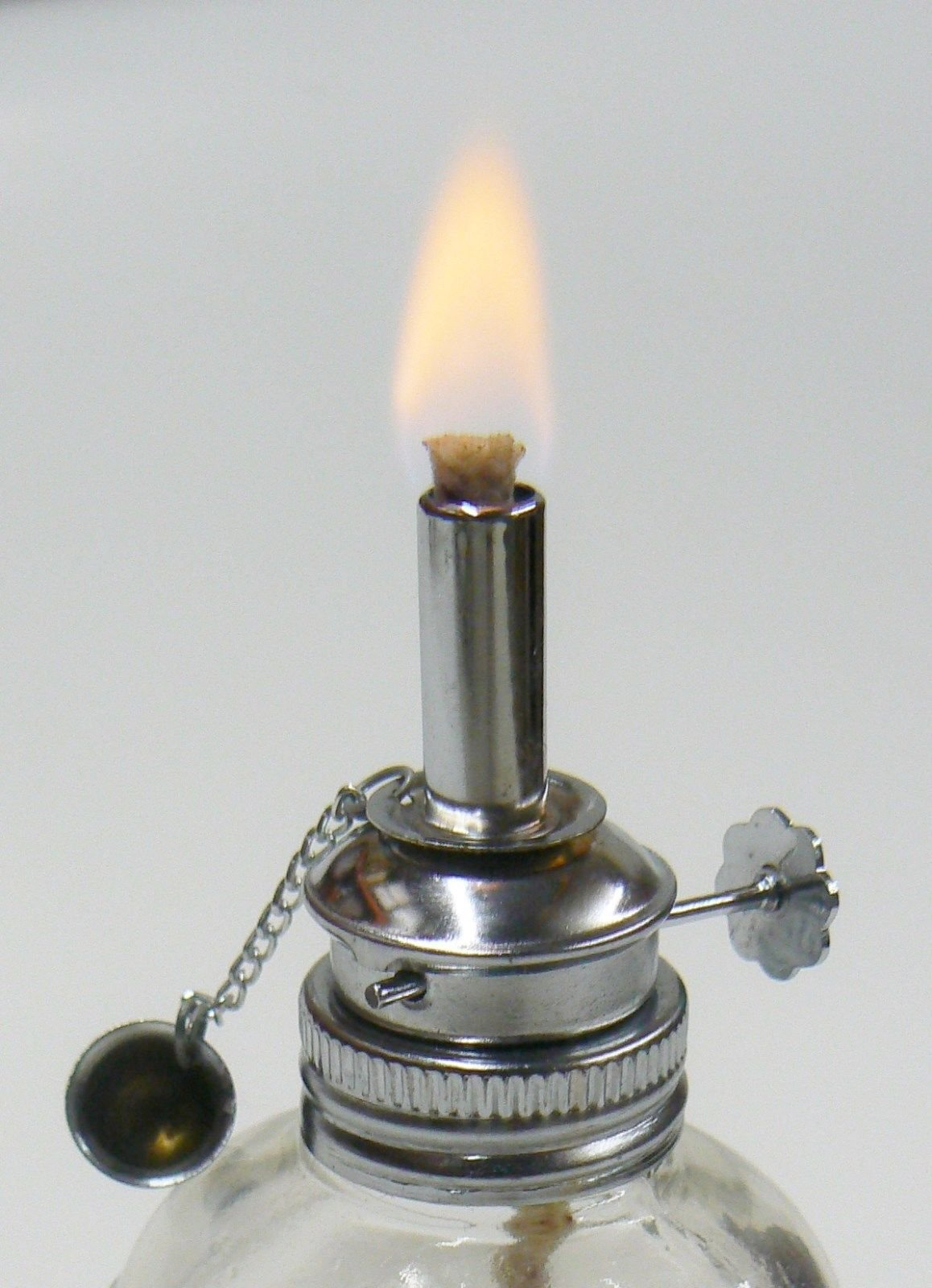 Alcohol Lamp Glass Spirit Lamp Burner Faceted Sides & Adjustable Wick Wax Work by EUROTOOL (Image #1)