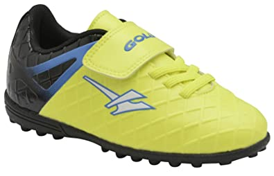 3514db6a8086 Boys Girls New Astro Turf Gola Lace Up Touch Fastening Trainers Shoes Size  - Volt -