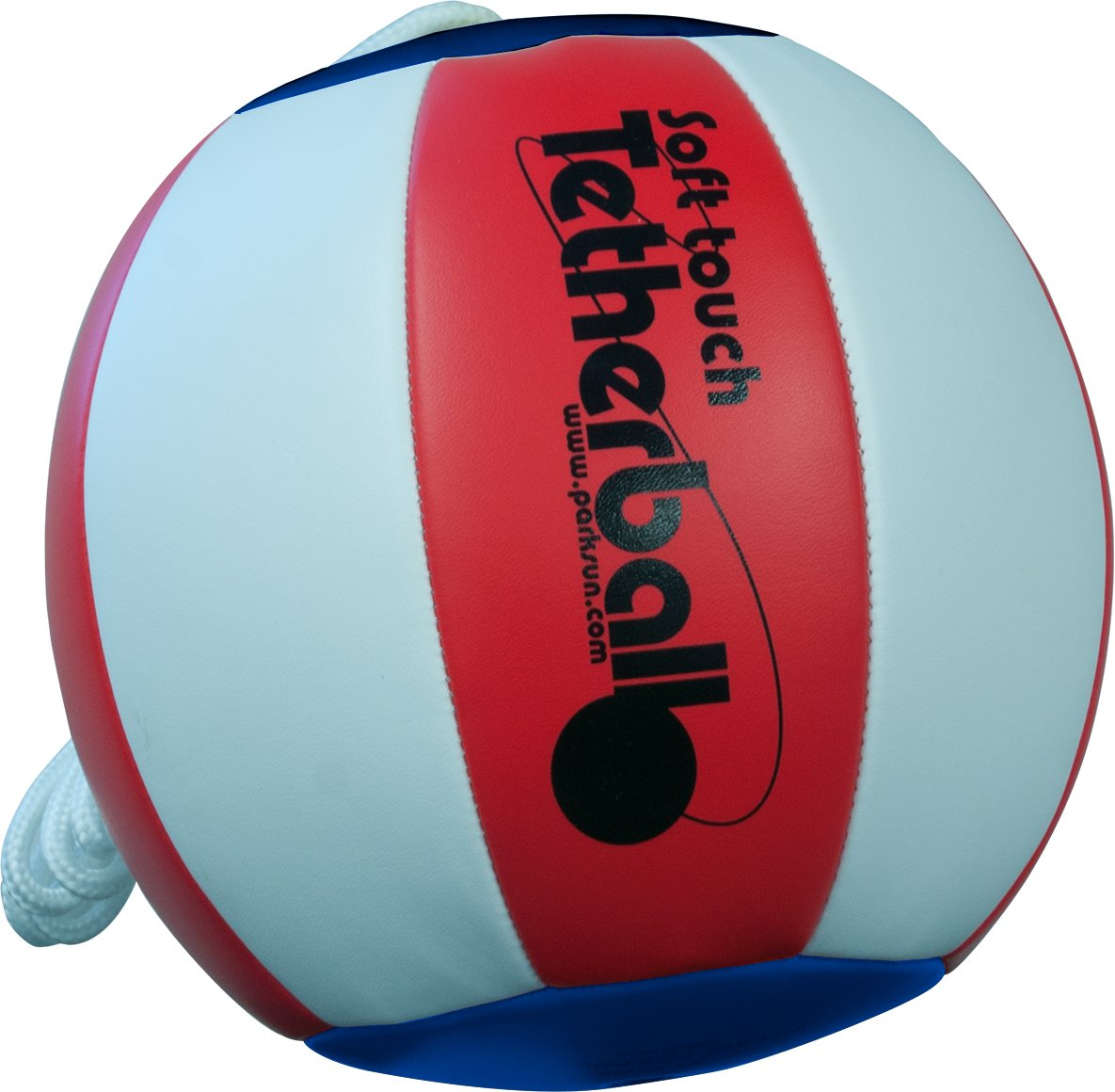 Park & Sun Sports Soft Touch Tetherball with 7' Nylon Cord and Clip Americana (Red White and Blue) Park and Sun Sports BALL-300TB-RWB