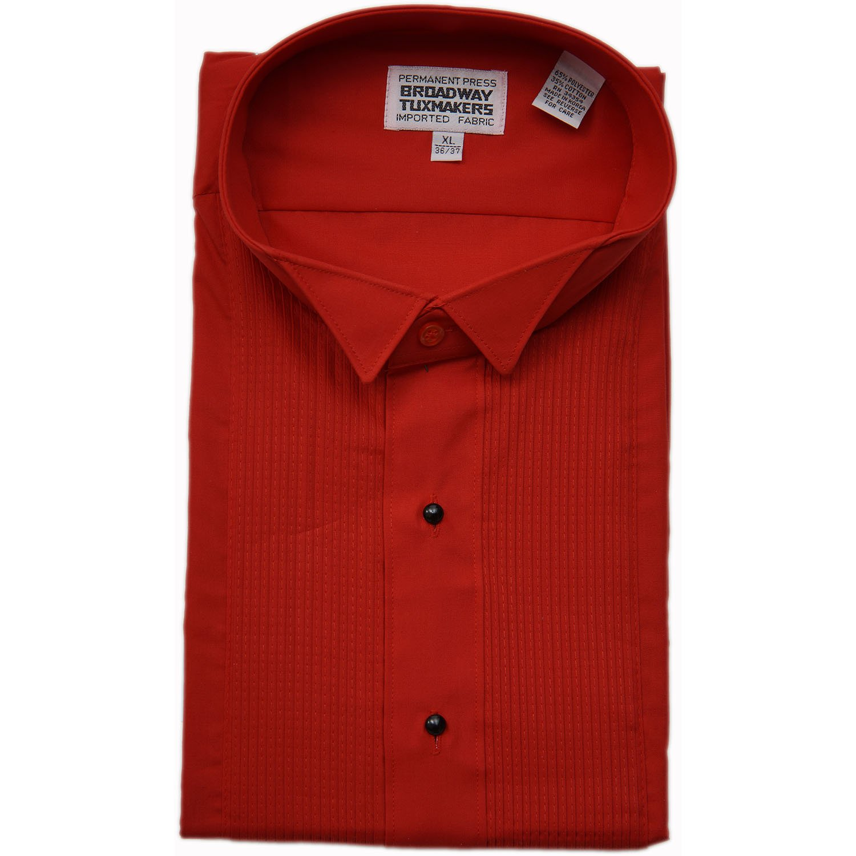 Boy's Wing Tip Red Tuxedo Shirt