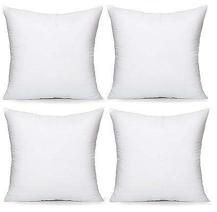 Acanva Hypoallergenic Pillow Insert Form Cushion, 18 L x 18 ...