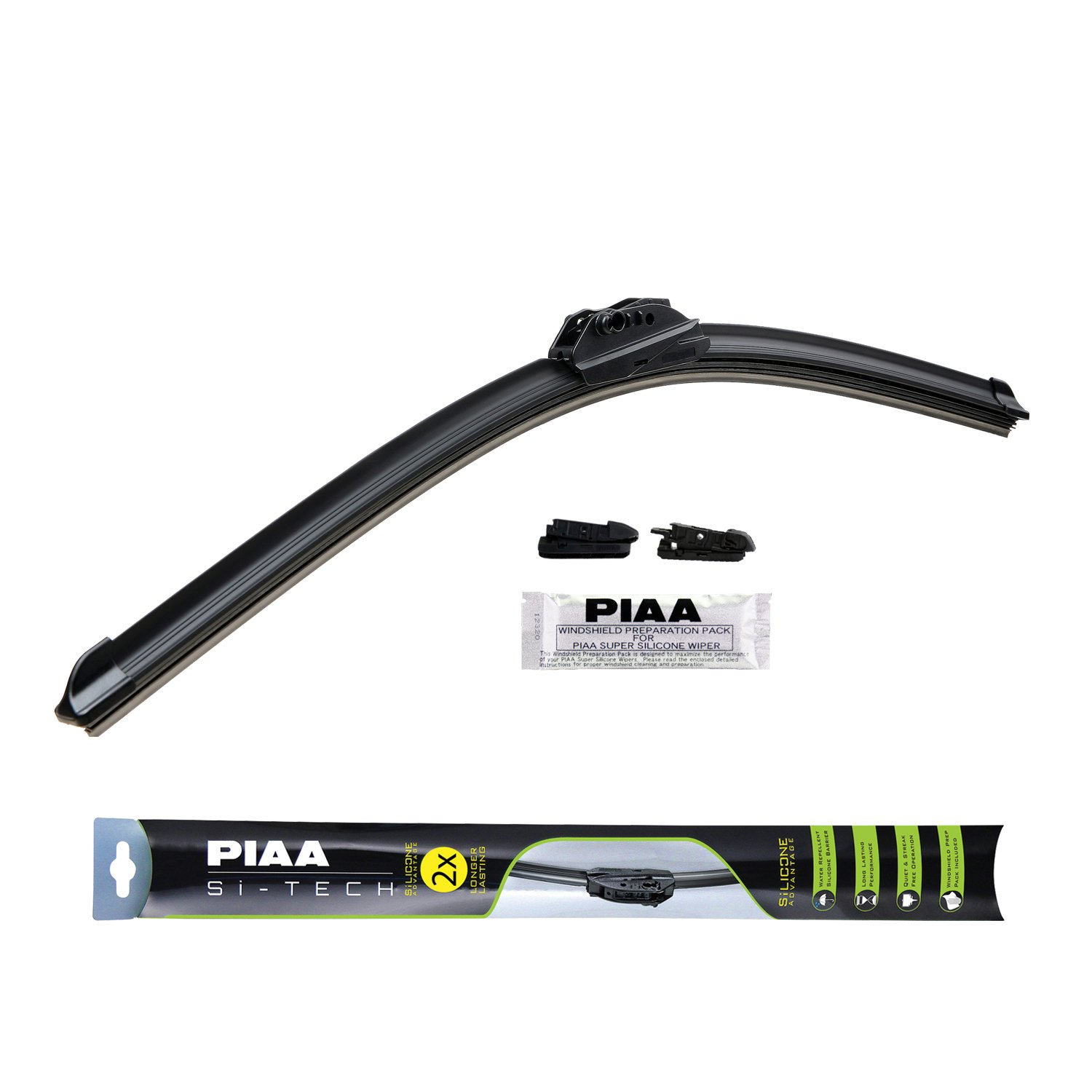 PIAA 97060 Si-Tech Silicone Flat Wiper Blade, 24' (Pack of 1) 24 (Pack of 1) PRRXE