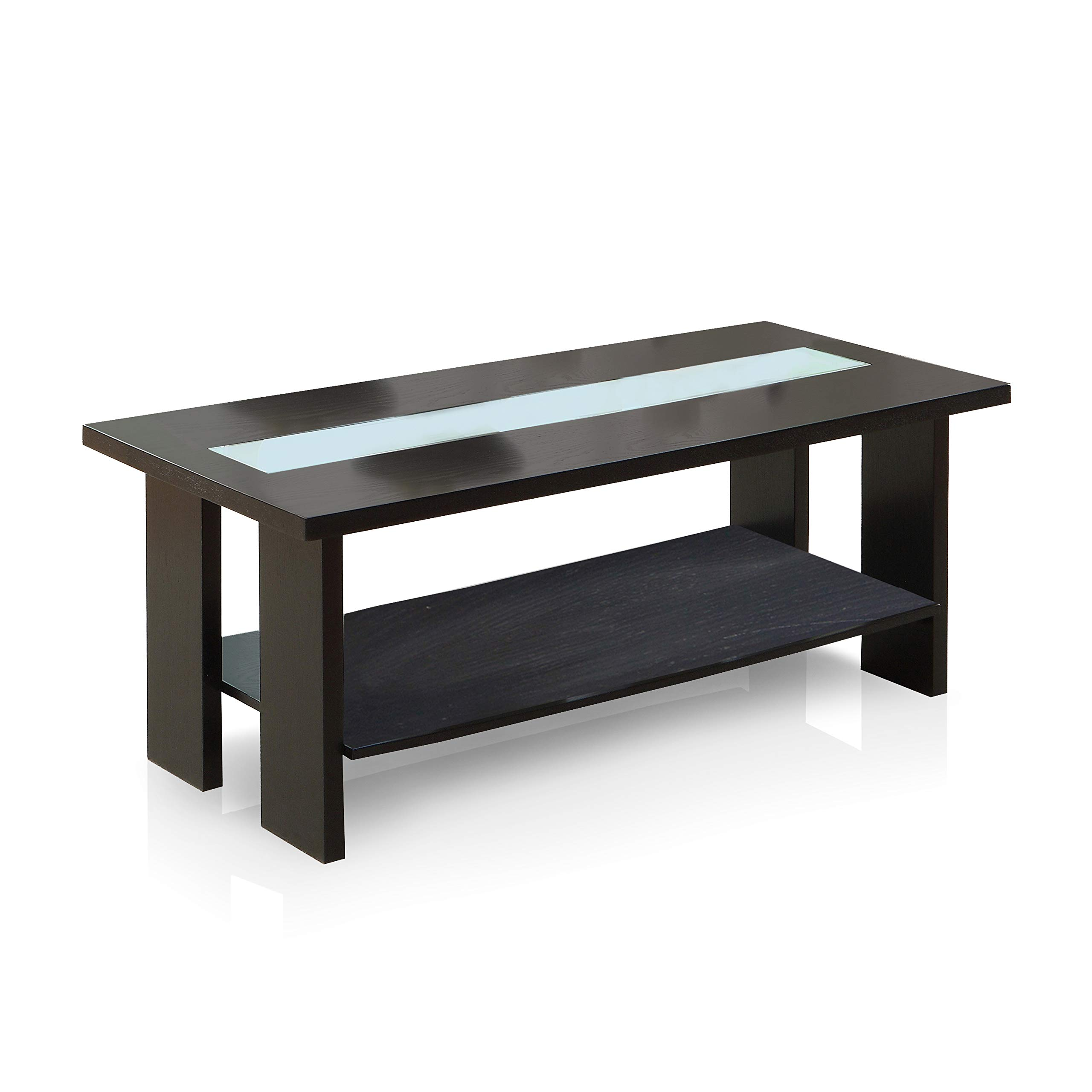 Furniture of America Crownguard 3-Way LED Lighted Coffee Table