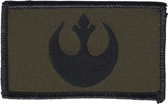 """Star Wars Rebel Alliance Logo and X-Wing 4/"""" Wide Embroidered Iron On Patch"""