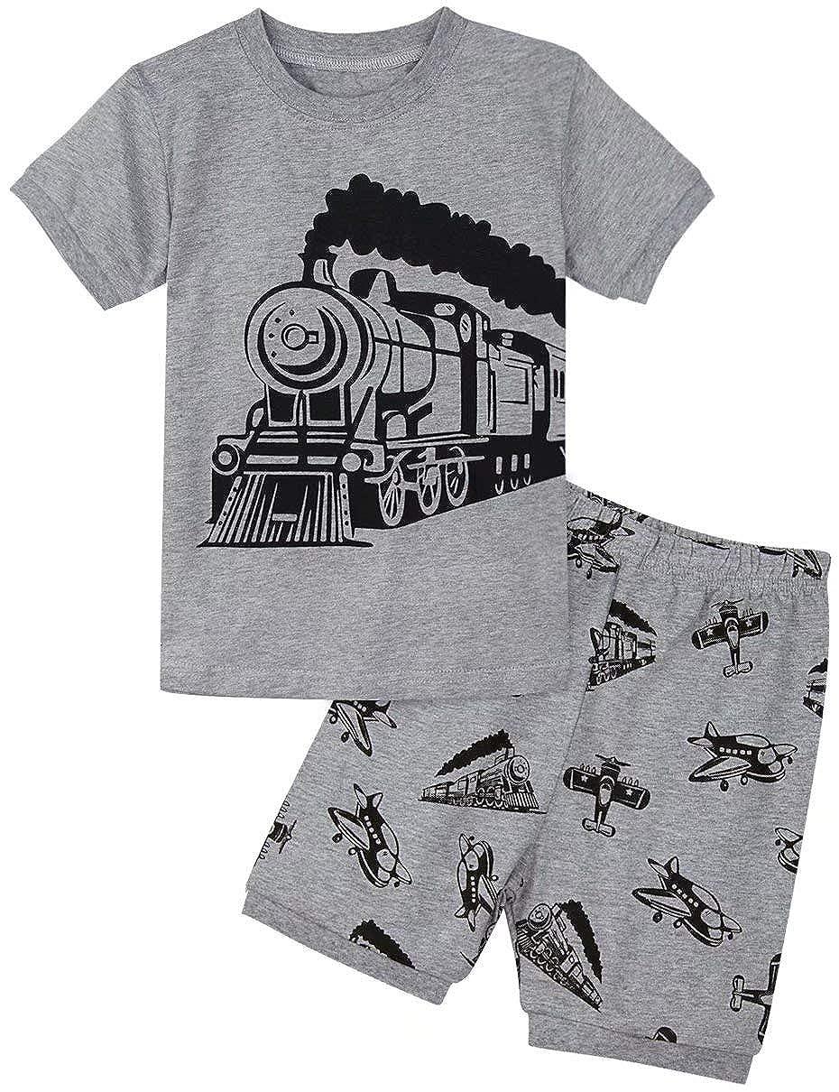 MOMBEBE COSLAND Conjunto de Pijamas para ni/ños de Manga Corta