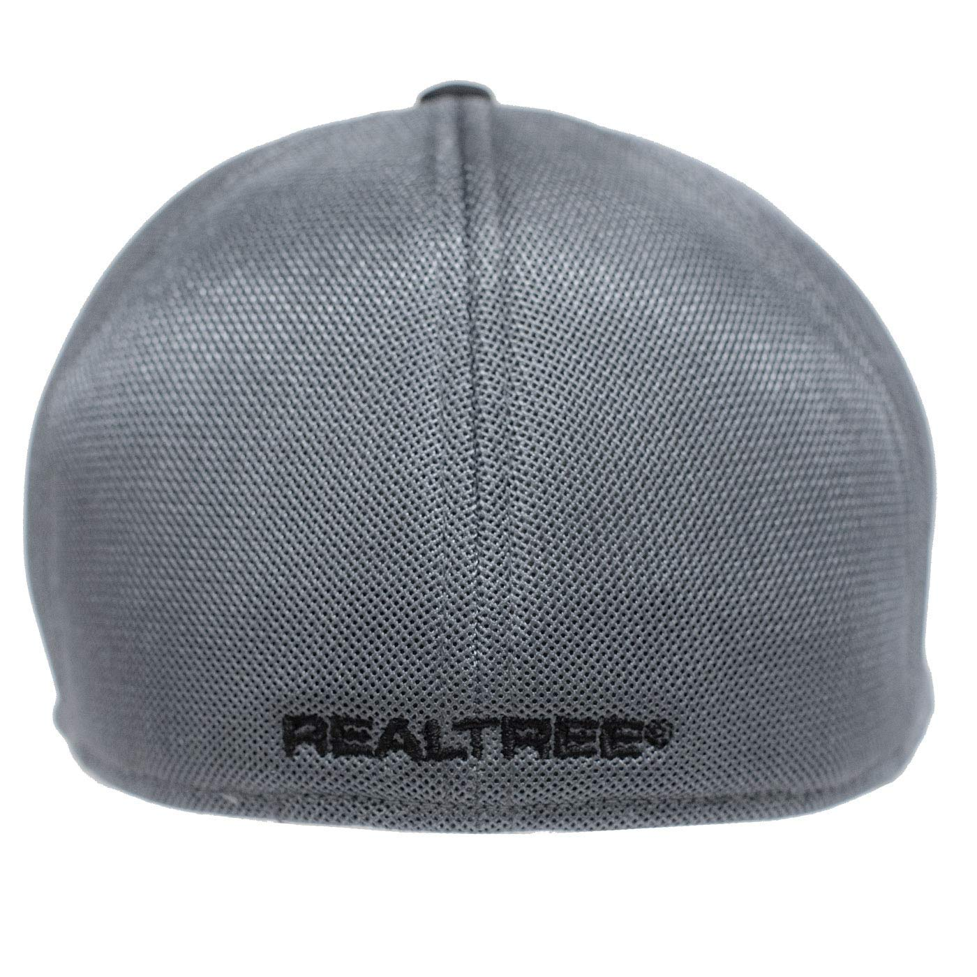 Realtree Mens Blackout Performance Fitted Hat Black Q3 Moisture Wicking Cooling Sweatband
