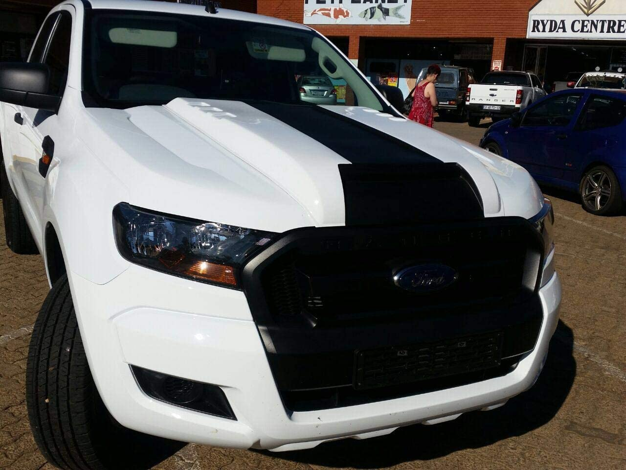 G/én/érique Enjoliveur de Capot pour Ford Ranger Bonnet Scoop de 2015 /à 2018