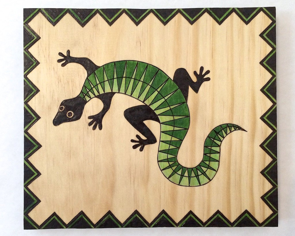 Amazon.com: Handcrafted Green and Black Aztec Jungle Lizard ...