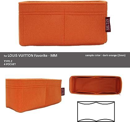 Desconocido Shuyentokyo – Organizador para Louis Vuitton Favorite MM, 2 mm, bolsa de pañales de fieltro: Amazon.es: Zapatos y complementos