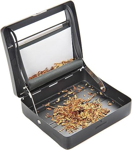 Imagen deThe Khan Outdoor & Lifestyle Company Maquina semiautomática de Liar cigarrilos (Maquina para enrolar) Hecha de aleación de Zinco (9cm x 8cm x 2cm), de Color Negro Mate, 753 DE