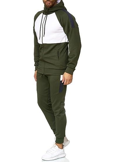 e9adda9c0242d OneRedox Herren Jogginganzug Sportanzug Trainingsanzug Sweatshirt Hose Jogging  Anzug Modell 1054  Amazon.de  Bekleidung