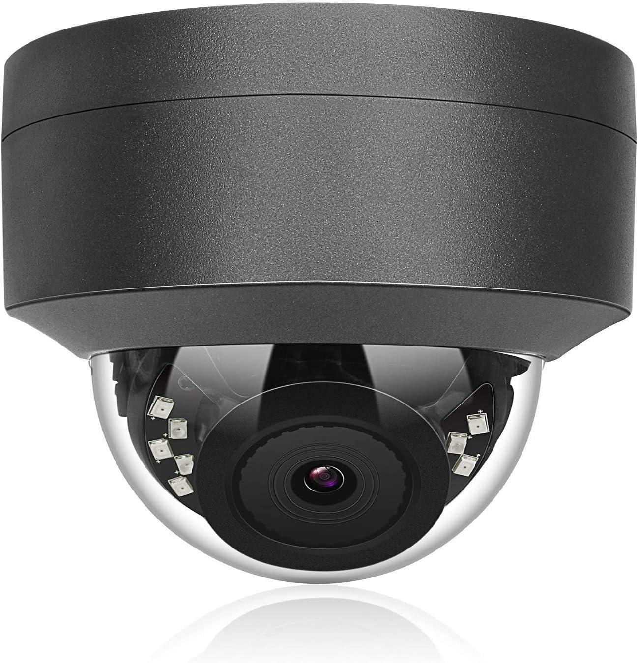 (Hikvision Compatible) Anpviz 5MP IP POE Dome Camera Motorized 4X Optical vari-Focal 2.8~12mm AutoFocus Wide Angle Security Camera Indoor Outdoor Weatherproof Onvif Surveillance Camera #IPC-D250G-4X