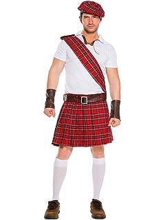 Amazon.com: Charades - Colcha escocesa para hombre de talla ...