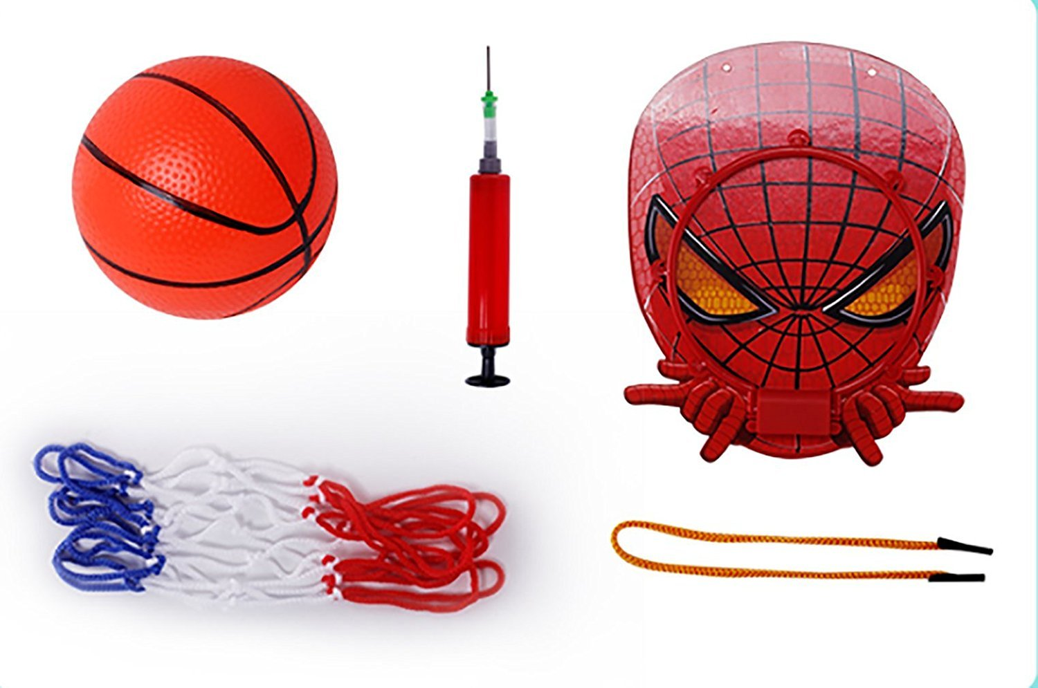 Lbsel Sports Training Ball Game with Ball and Pump Gifts for Baby Kids Children Boys Girls,Hanging Mini Basketball Netball Hoop Set Toys Indoor Outdoor Basketball Box Board Backboard