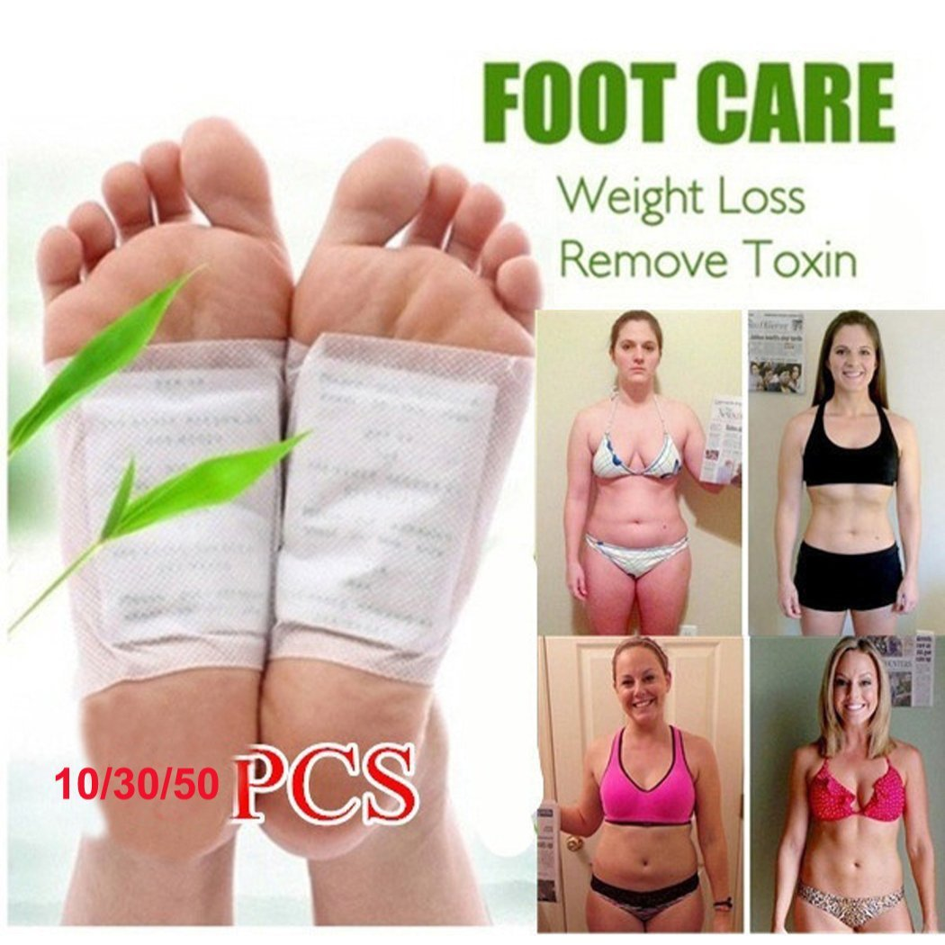 KaiKBax Weight loss artifact Detox Foot Pads Patch Detoxify Toxins with Adhesive Keeping Fit Health Care 50pcs