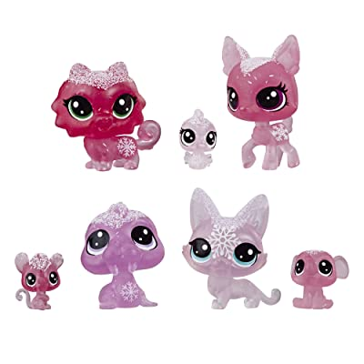 Littlest Pet Shop Frosted Wonderland Pet Friends Toy, Pink Theme, Includes 7 Pets, Ages 4 & Up: Toys & Games