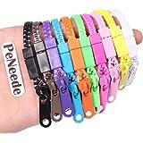 PeNeede 10 Pieces/Lot Zipper Bracelet - Fidget Bracelet Hand Sensory Toys - Stress Relief/ Better Focus For Autism ADHD School Student