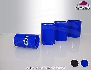 Silicona Recto Conector 80 mm de diámetro Azul Tubo de Silicona Turbo Manguera de Agua fría Pantalón Air Flexible: Amazon.es: Coche y moto