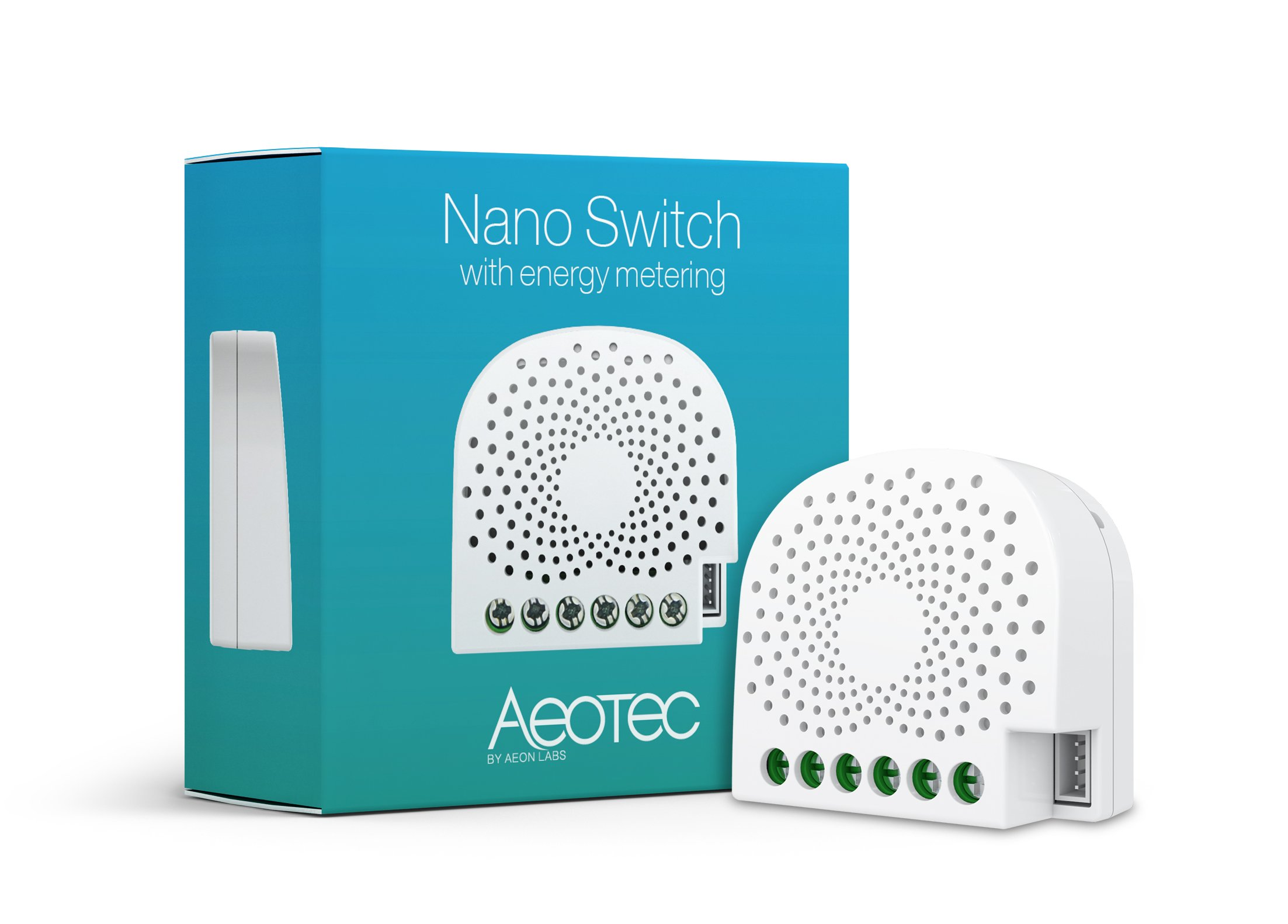 Aeotec Nano Switch on / off controller with power metering, Z-Wave Plus, In-wall, Compatible with Alexa