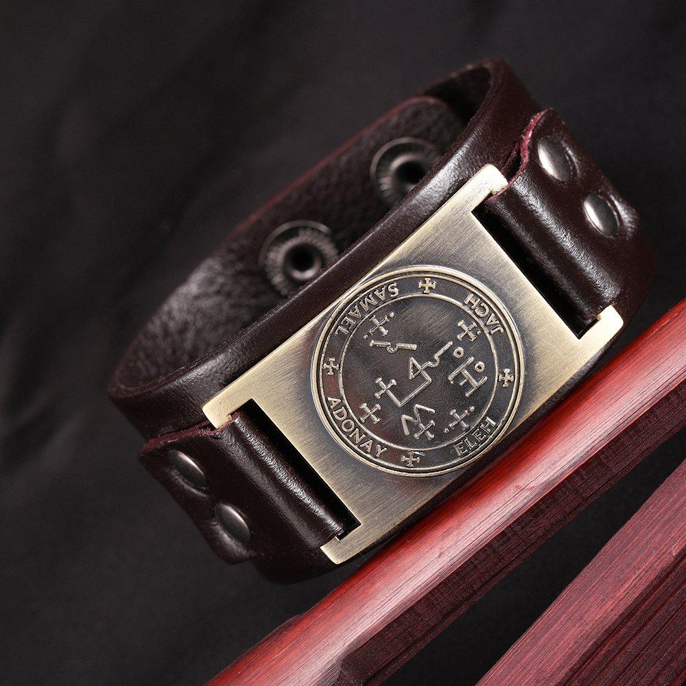 Michael Samael Zadkiel Raphael Uriel Thavael Gabriel Leather Bracelet Punk Supernatural Male Bracelet