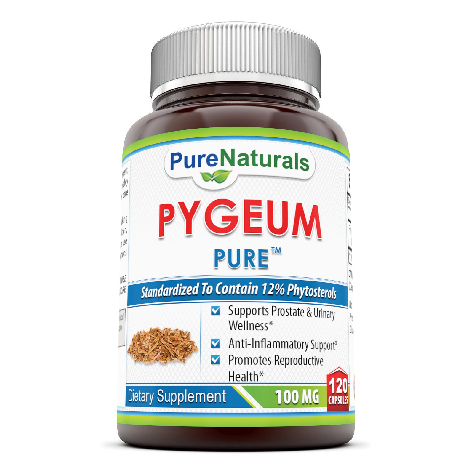 Pure Naturals Pygeum Extract 100 Mg, 120 Count