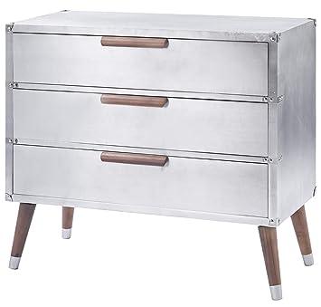 ts-ideen - Cómoda con cajones, Aluminio, Estilo Industrial ...