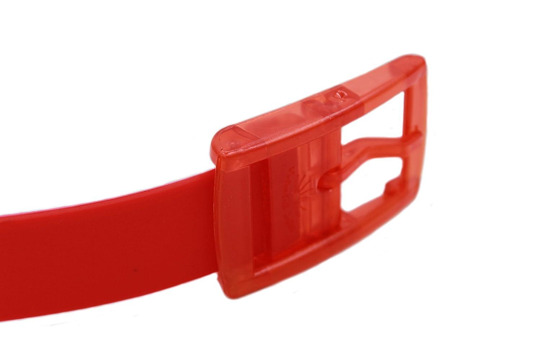 MEISHINE/® Unisex Cintur/ón de Silicona Cintur/ón de Moda Hebilla de Pl/ástico