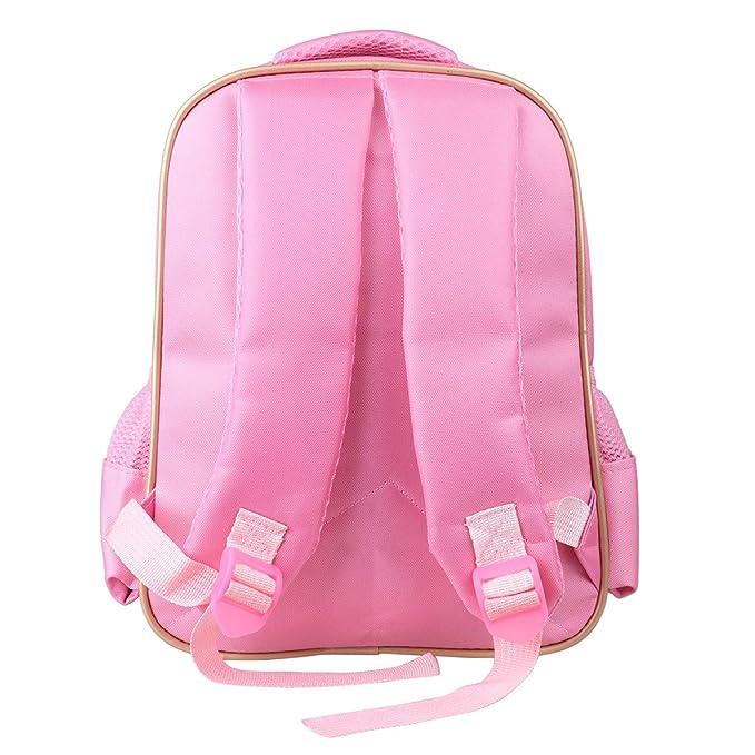 IEFIEL Mochila Infantil Guarderia Bolsa de Ballet Deporte Niña Backpack de Danza  Baile Escolor Bolso con Bolsito Rosa Mochila para Niñas Rosa Talla Única   ... 81e4bcdb80084
