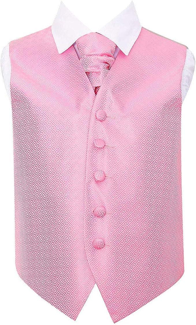 DQT Floral Paisley Royal Blue Boys Wedding Waistcoat /& Cravat Set