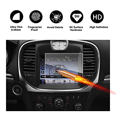 2011-2020 Chrysler 300 Uconnect 8.4 Inch Touch Screen Car Display Navigation Screen Protector,HD Clear TEMPERED GLASS Car In-Dash Screen Protective Film: GPS & Navigation