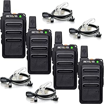 Retevis Rt619 Funkgerät Mit Headset Pmr446 Walkie Elektronik