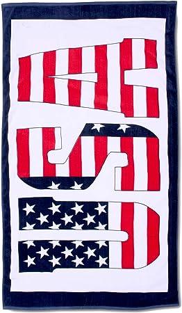 Toalla de playa, toalla de baño, toalla de sauna USA SIGN, talla 180 x 100 cm: Amazon.es: Hogar