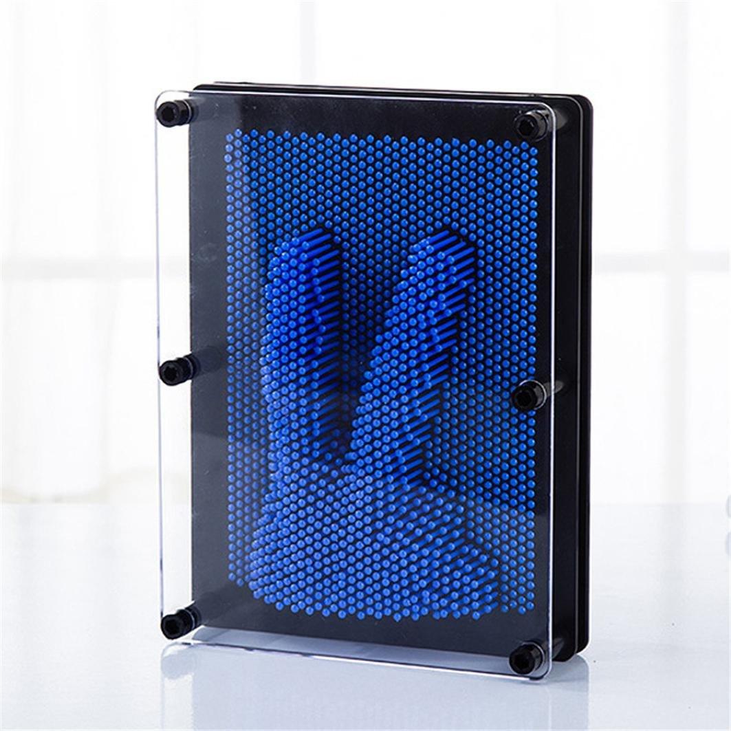 novedad Antistress clonar pintura spritumn arte Pression dise/ños 3d Clone Handprint juguete aguja de huellas dactilares /Regalo para n Pin de pl/ástico impresi/ón de mano molde para hogar y oficina escritorio Escultura/