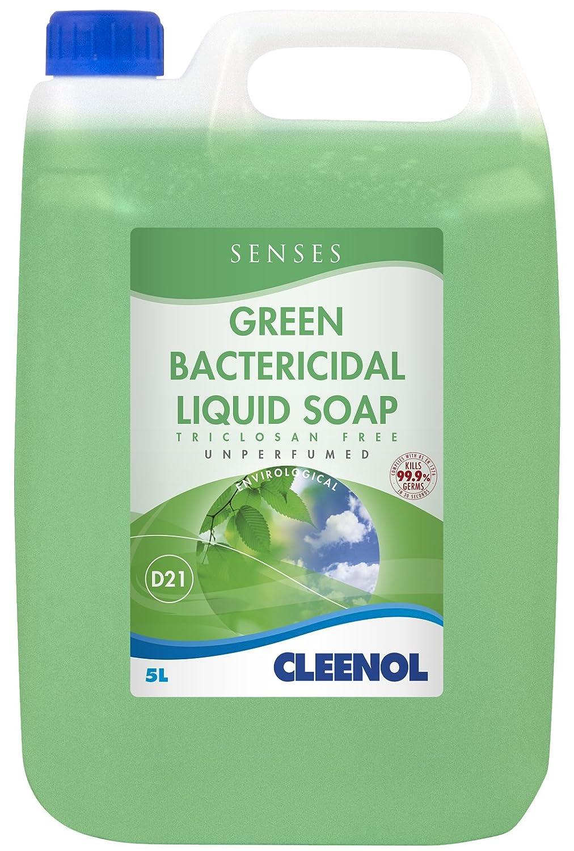 Cleenol Bactericidal Liquid Soap, White, 5 L 072722X5