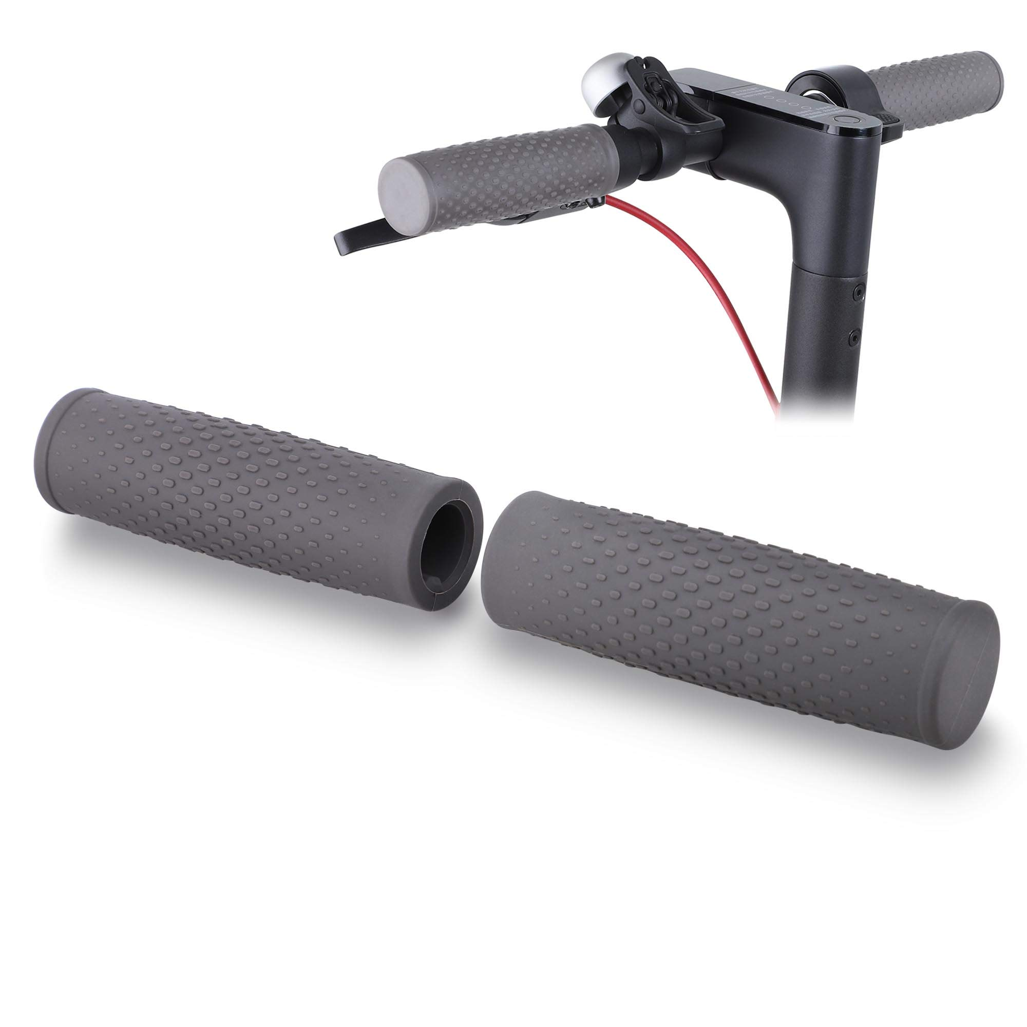 TOMALL Rubber Handle Bar Grip Anti-Slip Rubber Grips Protection Handle Grips 1 Pair Replacement for Xiaomi Mijia M365