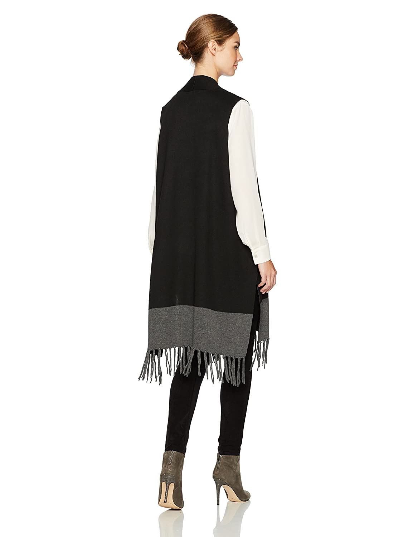 908b4078999e5 Lyssé Women s Plus Size Fringe Vest Black One Lysse Womens Sportswear 24- 1712-A7 larger image