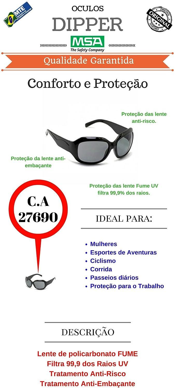 ac2a728de3e40 Oculos Segurança Teal Msa Feminino C.a 27690  Amazon.com.br  Ferramentas e  Construção