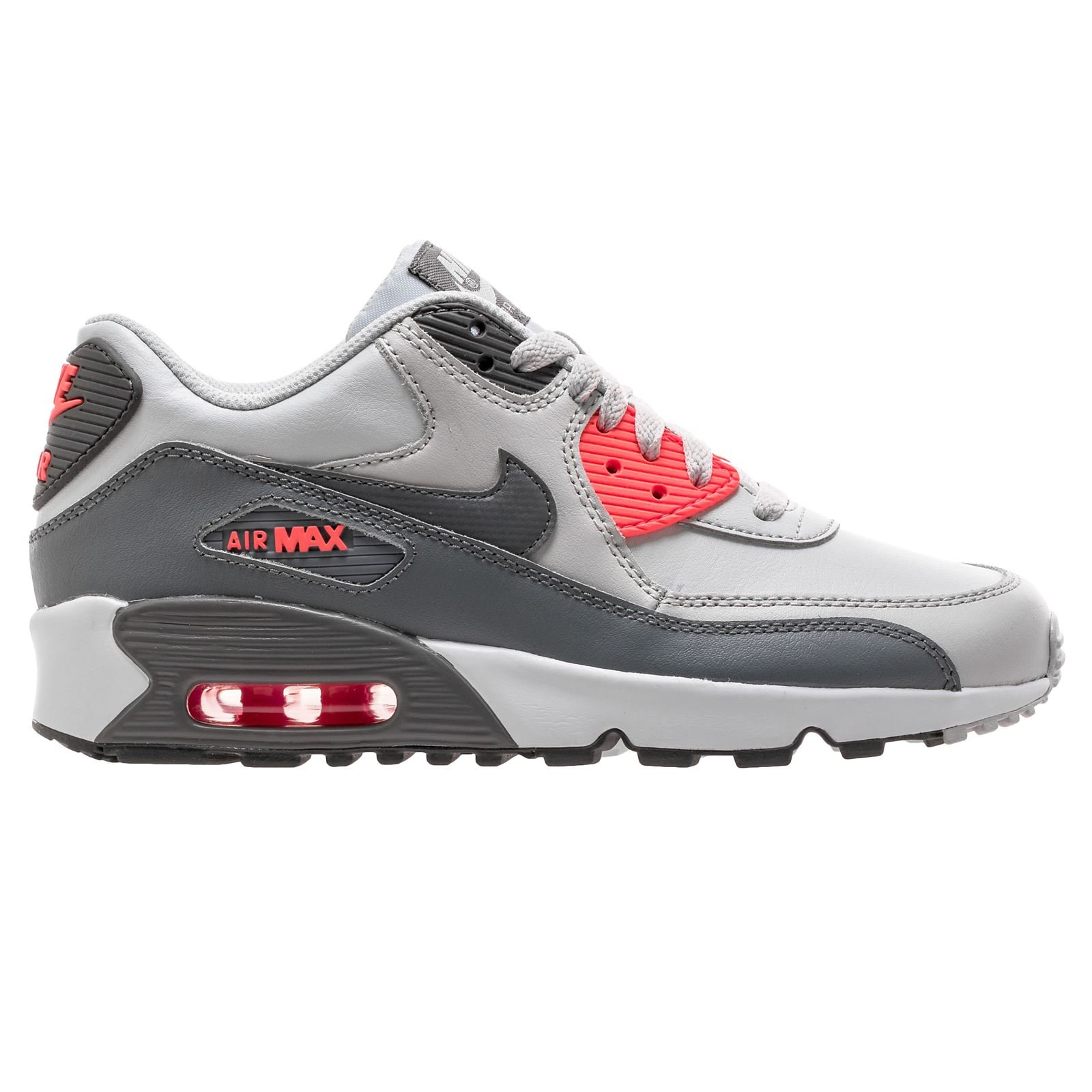 e6eab8d23b931 NIKE Air Max 90 LTR Pure Platinum/Cool Grey (Big Kid) (7 M US Big Kid)