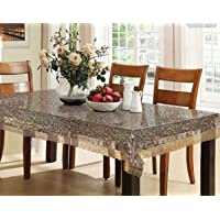 Kuber Industries PVC 6 Seater 3D Transparent Dining Table Cover