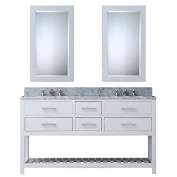 Water Creation Madalyn 60wc 60 Inch Solid White Double Sink Bathroom