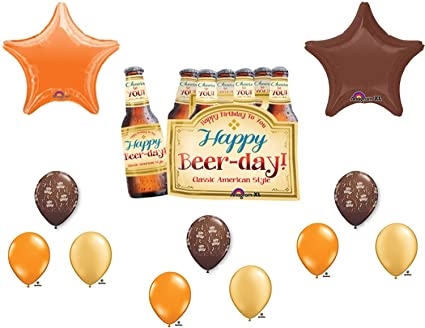 Super 6 Pack Happy Beer Day Birthday Party Balloons Decorations Supplies By Anagram Download Free Architecture Designs Lukepmadebymaigaardcom