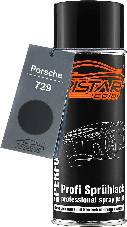 Tristarcolor Autolack Spraydose Für Porsche 729 Satinschwarz Metallic Satin Black Metallic Basislack Sprühdose 400ml Auto