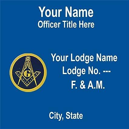Amazon com: Personalized Masonic Pocket Badge F  & A M : Everything Else